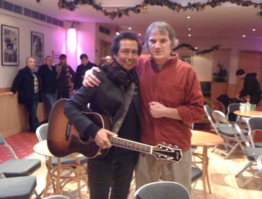 With my friend Alejandro Escovedo. From the Nuns, Rank & File, the True Believers and his incredible solo records Alejandro is an inspiration. Dec 9, 2010, Bedford, England
