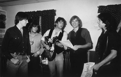 August 1984, backstage at McCabe's, Gene Clark tells Sid Griffin the set list is okay with him.