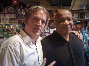 Sid hangs with old chum Larry Chatman, ex-Funkadelic, now with Dr. Dre.