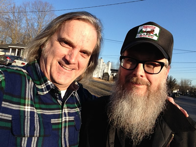 Sid with the fine songwriter Otis Gibbs in East Nashville, Feb. 13, 2014