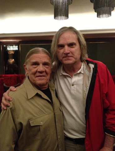 Sid with Henry Diltz, singer of the Modern Folk Quartet and one of rock's greatest photographers having done LP sleeves for the Doors, the Byrds, CSN and Joni Mitchell