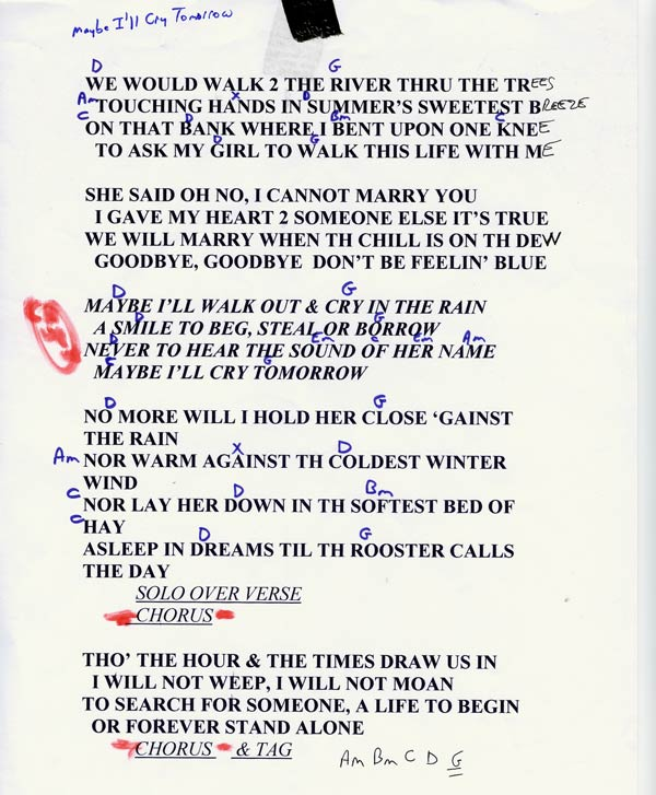 tangled up in blue lyrics