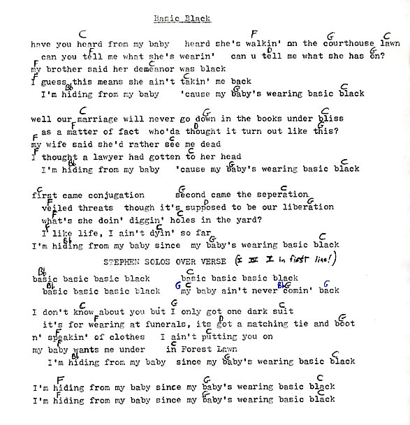 Long Ryders Lyrics and Chords - Sid Griffin