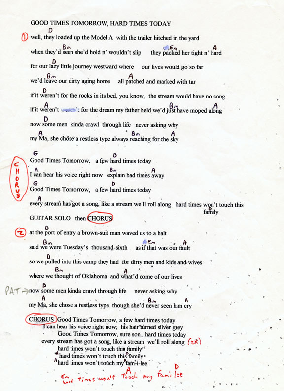 Long Ryders Lyrics And Chords The Official Website Of Sid Griffin