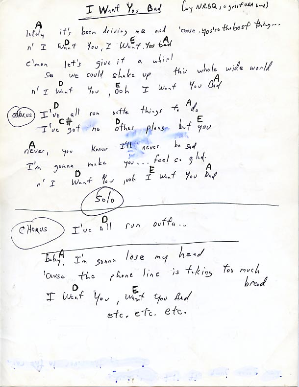 Long Ryders Lyrics And Chords Sid Griffin