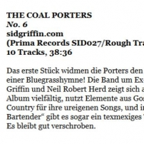 The Coal Porters - No. 6 - Folker Magazine German Review