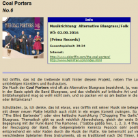 The Coal Porters - No.6 - Musikansich Review