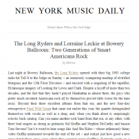 The Long Ryders - New York Music Daily Review, NYC 2016