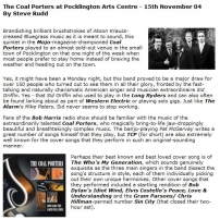 The Coal Porters at Pocklington Arts Centre , 15th November 04