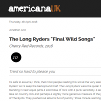 The Long Ryders - Final Wild Songs Box Set Review - Americana UK