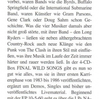 The Long Ryders - Final Wild Songs Box Set Review - Good Times German Magazine