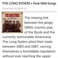 The Long Ryders - Final Wild Songs Box Set Review - Music Week