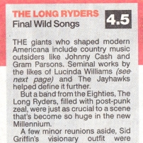 The Long Ryders - Final Wild Songs Box Set Review - The Sun