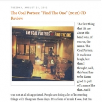 Michael Doherty's Music Log Find The One review