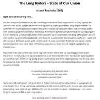 Skranglefantene Norwegian Long Ryders State Of Our Union Review