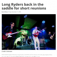 The Long Ryders Interview - Boston Herald, November 2016