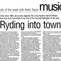 'Ryding Into Town – The Sounds of the Week with Mark Taylor'