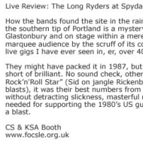 Live Review: The Long Ryders at Spydafest – June 2004