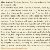 Live Review: The Long Ryders – The Rescue Rooms, Nottingham – 1st July 2004