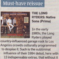 Long Ryders Sunday Times reissue of the Week, review by Stewart Lee