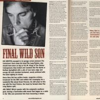 Sid Griffin interviewed in Shindig magazine part 1 (Quarterly ish no.3)