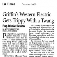 Western Electric Review - LA Times, October 2000