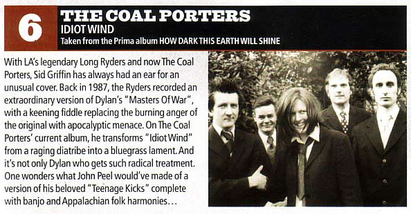 The Coal Porters in Uncut Magazine