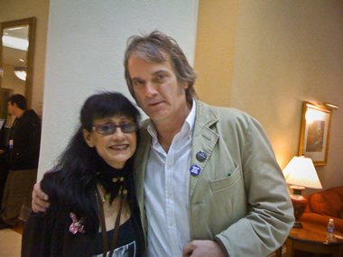 With dynamite singer-guitarist Rosie Flores at Folk Alliance in Memphis, Feb 2011