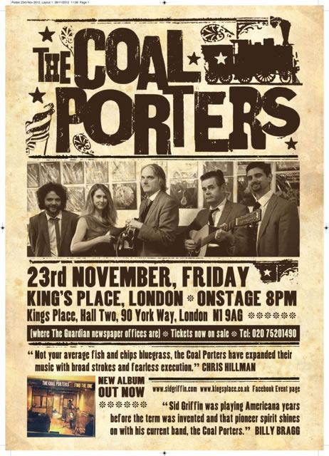 The Coal Porters play Kings Place on November 23rd