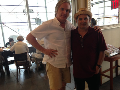 Our Hero with ace singer-songwriter Greg Trooper, author of 'Everywhere' in NYC, June 2014.