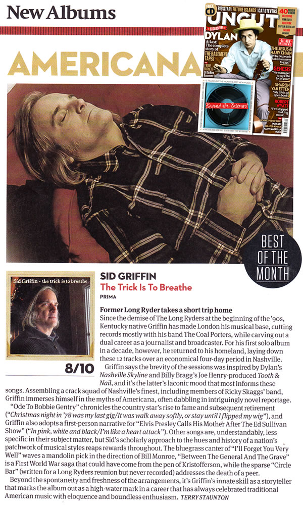 "Uncut Magazine ""Best of the Month"""