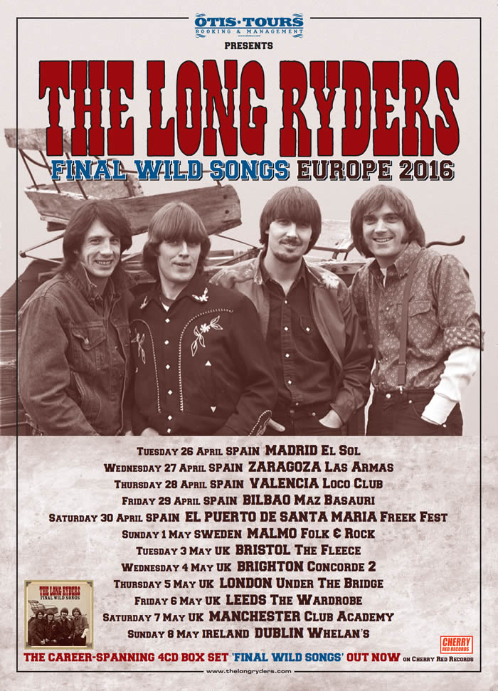 The Long Ryders Tour Poster