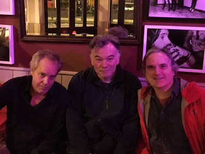 Singer-novelist Dan Stuart, comedian & Observer columnist Stewart Lee & a guy with white sideburns meet March 1, 2016 at The Islington pub to form a Stop Trump movement.