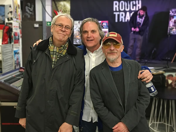 Topnotch guitarist Martin Belmont, Our Hero, and Graham Parker pose for The Daily Mail at Rough Trade East, March 3, 2016.