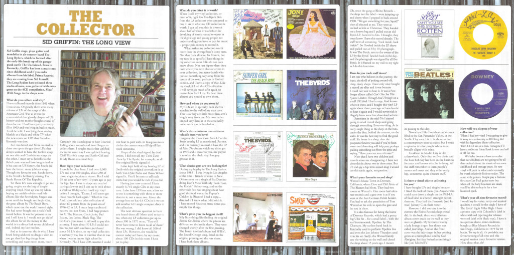 Sid Griffin - Record Collector Magazine