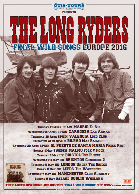The Long Ryders European Tour Poster 2016
