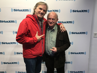 At Sirius XM in the Rockefeller Centre in NYC with DJ/writer/sage Dave Marsh. Don't ask...  Tuesday Nov 8, 2016