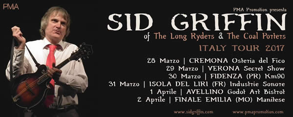 Sid Solo dates in Italy - PMA Promotions
