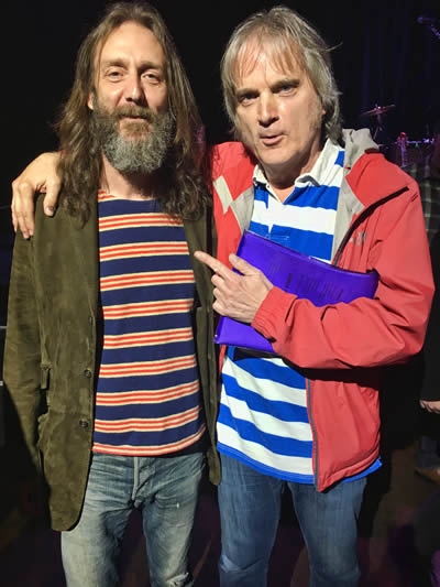 Chris Robinson of the Chris Robinson Brotherhood and the Black Crows shows up at Long Ryders soundcheck April 26, 2017. He sang 'Dynamite Woman' with us.