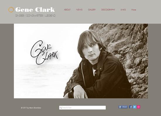 The Neon Brambles Gene Clark website