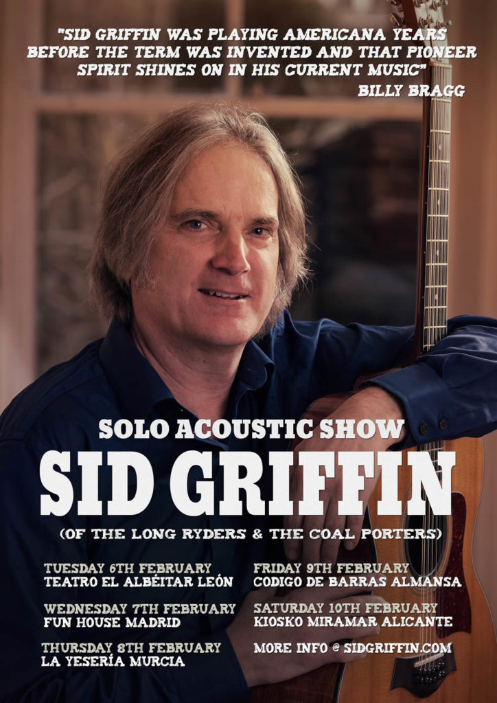 February 2018 Sid Griffin Solo shows in Spain